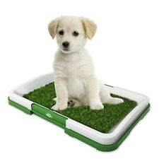 Puppy Potty Trainer Grass Mat Dog Training Indoor & Outdoor Pee Pad Patch Green