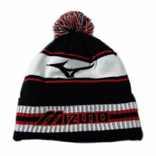 NEW Mizuno Golf Black/Red/White Pom Pom Winter Beanie Hat/Cap