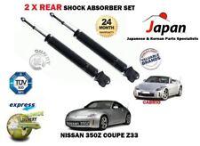Per NISSAN 350Z Z33 Roadster Coupe 3.5 2002 - > 2X Posteriore AMMORTIZZATORE Shocker Set