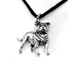 Staffie Dog Pendant in Fine English Pewter, Handmade, Staffordshire Bull Terrier