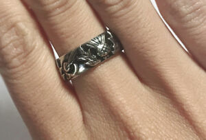 Thistle & Handfast Knot Band - Stainless Steel - Outlander Wedding replica ring©