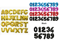 """30"""" Giant Foil Number Letter Air Balloons Birthday Party Wedding A-Z 0-9 baloons"""