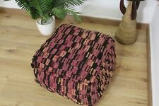Pouf Moroccan handmade/ Pouf House Square / Coushion from old Rug