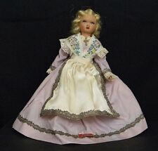 Vintage Doll, French Doll in Traditional Dress, 9-Inch Celluloid