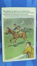 More details for vintage donald mcgill comic postcard 1926 horse racing betting bet ten to one