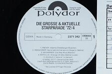 DIE GROSSE & AKTUELLE STARPARADE '72/4  LP 1972 Polydor Promo Archiv-Copy mint