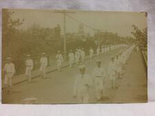 Vintage Real Photo Postcard Parade Linwood Bridge Norwalk Ohio