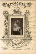 Lemercier, Paris-Portrait, Anna Morel, chanteuse Vintage albumen Print Tirage