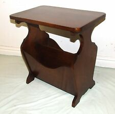 Antique Style Oak Joint Stool Lamp Table Coffee Table With Storage Magazine  Rack