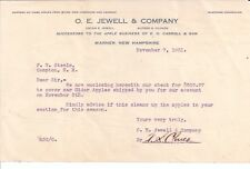 1921 O. E. Jewell & Company Warner New Hampshire Alfred S. Cloues Campton