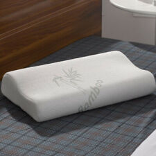 Bamboo Cervical Orthopaedic Contour Memory Foam Pillow Head Neck Back Support