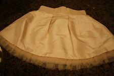 NWT 12-18 mos baby girl Janie & Jack light gold skirt