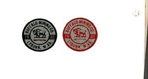 2 NICE BUFFALO MINING-PITTSTON-CLINCHFIELD COAL CO. COAL MINING STICKER # 1613