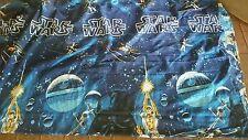 Star Wars Twin Bed Spread Vintage 1970s Blue Darth Vader Hans Solo C3PO Vivid