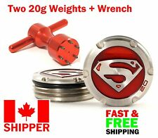 Deluxe Tour Weights + Wrench for Scotty Cameron Putters, Superman Red NEW