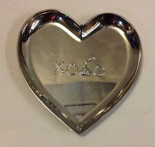 HERSHEY'S CHOCOLATE KISS XOXO SILVER HEART CANDY DISH METAL PLATE PARK SOUVENIR