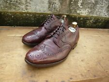 CROCKETT & JONES BROGUES – BROWN – SANDHURST - UK 8 –  GOOD CONDITION