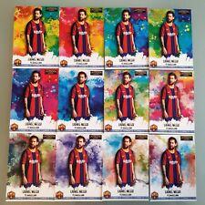 Custom Card Technique 2021 Lionel Messi Barcelona Rainbow 12 cards