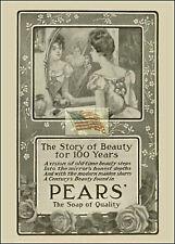 REPRINT PICTURE of old PEARS' SOAP ad THE STORY OF BEAUTY FOR 100 YEARS 5x7