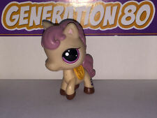 Littlest PetShop CHEVAL PONEY MARRON CLAIR 1512 e006 PONY HORSE Pet Shop