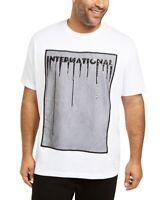 INC Mens T-Shirt Black White Size 2XLT Embellished Tee Mesh Sequin $49 #314