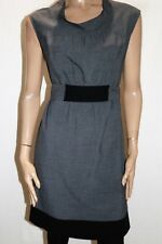 PICNIC Brand Grey Tweed Tie Back Sleeveless Day Dress Size S LIKE NEW #AN02