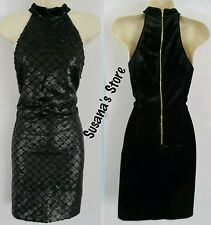 NWT bebe Olivia Mock Neck Sequin Dress SIZE M SEXY CLASSY DRESS  RETAIL $102