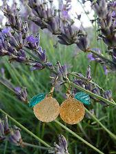 Handmade Japanese sugar coated beads Orange candy stud earrings