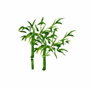 Bamboo Plant Designed Hand Painted Sticker Home Wall & Toilet Decals Decoration