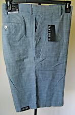 NWT Men's VAN HEUSEN Dress Casual Shorts 42 Waist Blue 100% Cotton Lightweight