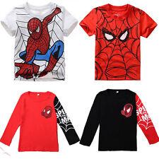 Bambini Spiderman bambini t-shirt maglia Casual Estivo Maglietta Maglia vestiti