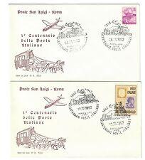 ITALIA 1962 1° centenario delle poste ponte san luigi roma 2 fdc 15 lire bu.063