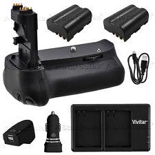 Battery Grip for Canon EOS 60D + 2x LP-E6 Batteries + AC/DC Dual Charger Kit