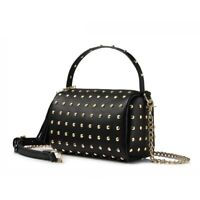 Women Shoulder Bag With Rivets Tassel Crossbody Mini Clutch Small Handbag Purse