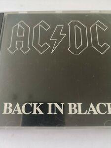 """AC/DC """"BACK IN BLACK"""" CD, DEUTSCHE ERSTAUSGABE"""