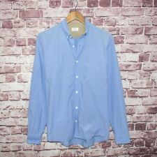 APOLIS Global Citizen Men's Button Down Shirt Blue Cotton Fits Size Small