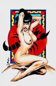SEXY DRUUNA VAMPIRELLA ASTROLOGY BETTIE PAGE SCORPIO FANTASY ART BURCHAM