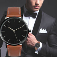 Retro Quartz Watch Men Women Famous Brand Gold Leather Band Wrist Watches Luxury