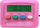 INVISIBLE CLOCK-II Timer w/Silent Or Beep Alarm Pink