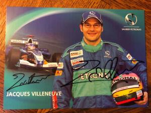Jacques Villeneuve Autogramm Karte autograph card signed F1 Champion Sauber