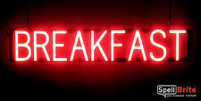 SpellBrite Ultra-Bright BREAKFAST Sign Neon-LED Sign (Neon look, LED power)