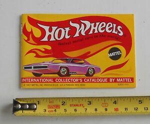 Original 1967 Mattel HOT WHEELS Collector's Catalogue  Excellent Condition