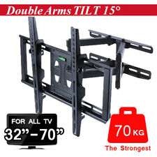 "New ListingDual Arm Full Motion Swivel Tv Wall Mount Bracket fr 32"" 37"" 42"" 50"" 55"" 65"" 70"""