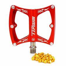 Tipsum CNC Super light MTB Road BMX Bike Sealed Bearing Pedal Titanium Axle Red