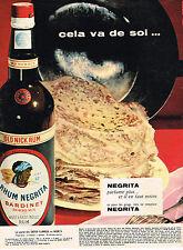 PUBLICITE ADVERTISING  1959   NEGRITA  BARDINET  rhum OLD NICK