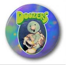DOOZERS - 1 inch / 25mm Button Badge - Novelty Fraggle Rock 80's Retro