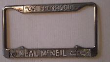 San Francisco CA Neal McNeil Chevrolet Dealership Metal License Plate Frame