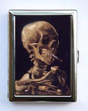 Skeleton Smoking Cigarette Case Wallet Business Card Holder fine art painting