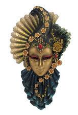 """NEW Fan & Feather Venetian Mask Wall Plaque 13""""  Ship Immediately"""
