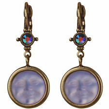 NEW KIRKS FOLLY SEAVIEW MOON SPARKLE LEVERBACK EARRINGS BT/ TANZANITE CRY